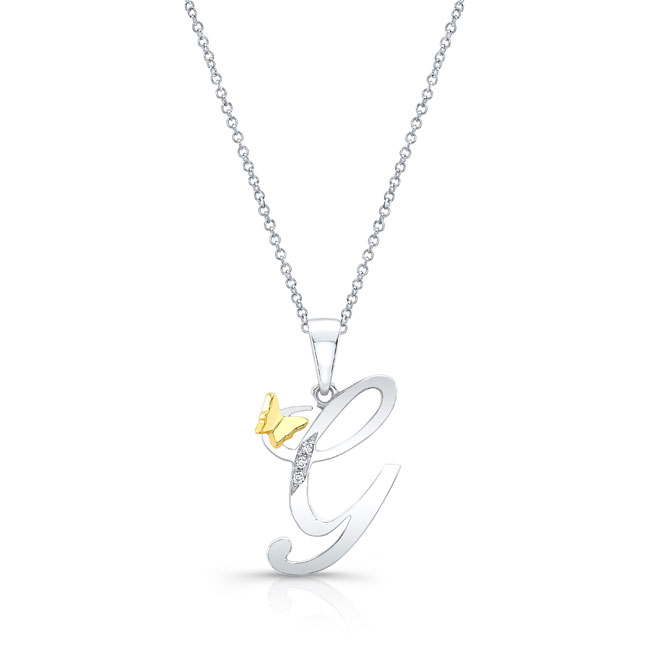 Initial G Diamond Necklace 8113N-G