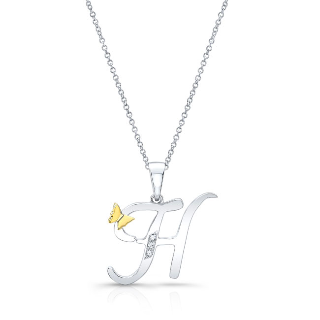 Initial H Diamond Necklace 8113N-H
