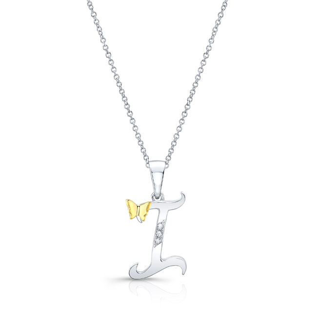 Initial I Diamond Necklace 8113N-I
