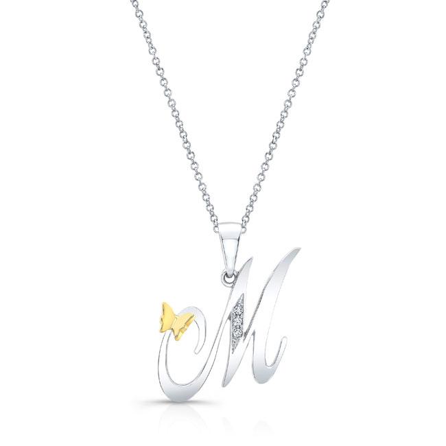 Initial M Diamond Necklace 8113N-M