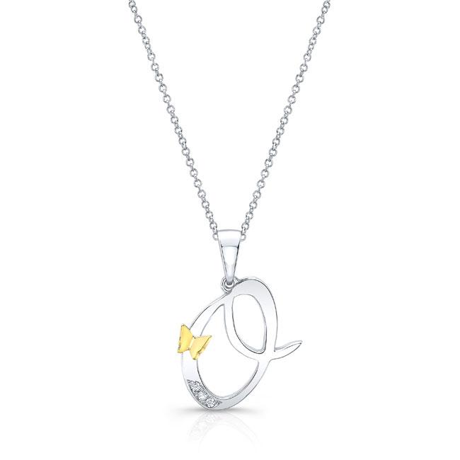 Initial O Diamond Necklace 8113N-O Image 1