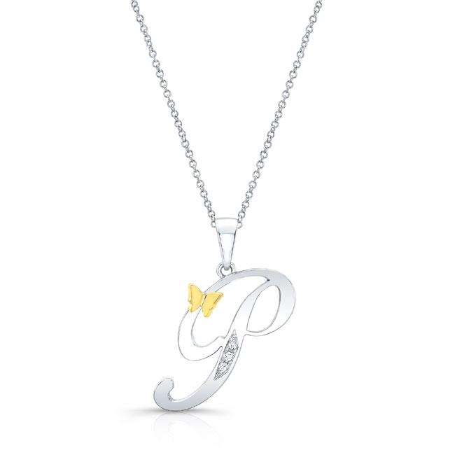 Initial P Diamond Necklace 8113N-P