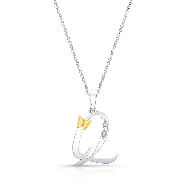 Initial Q Diamond Necklace 8113N-Q