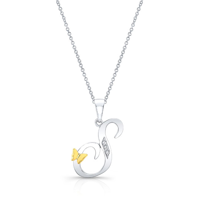 Initial S Diamond Necklace 8113N-S