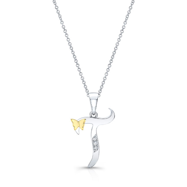 Initial T Diamond Necklace 8113N-T