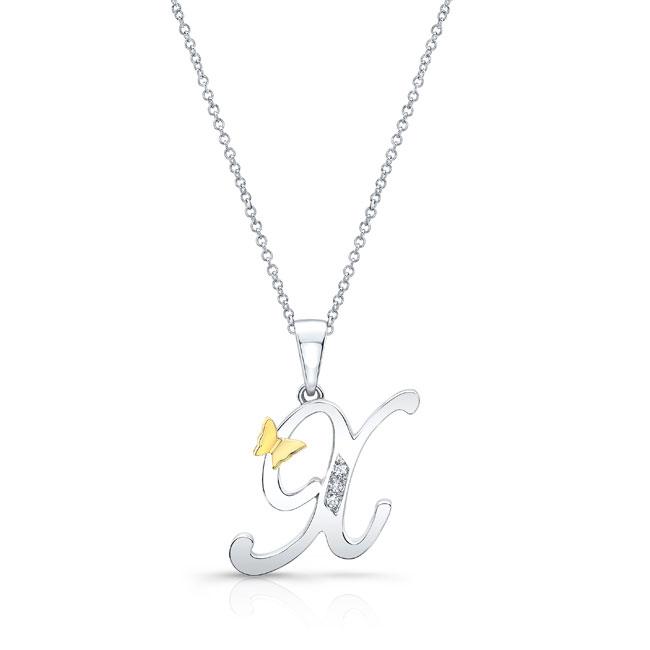 Initial X Diamond Necklace 8113N-X