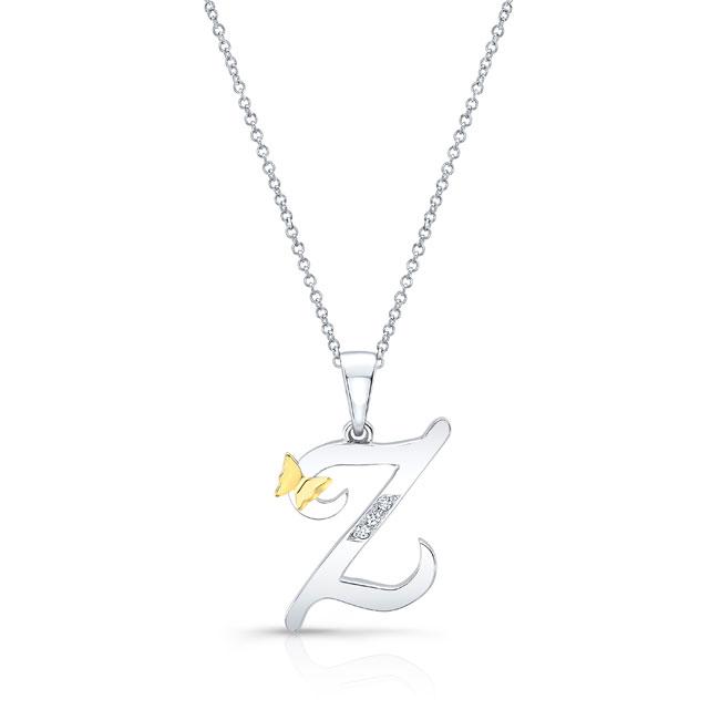 Initial Z Diamond Necklace 8113N-Z