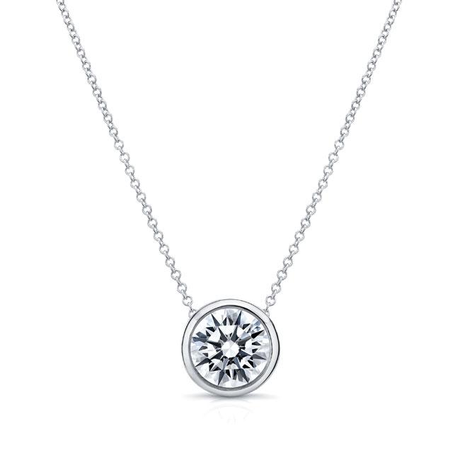 Moissanite White Gold Necklace MOI-8150N Image 1