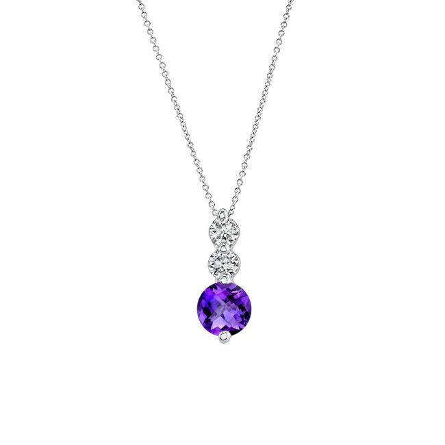 Amethyst & Diamond Necklace AM-5593N