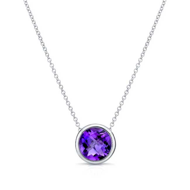 Amethyst White Gold Necklace AM-8150N