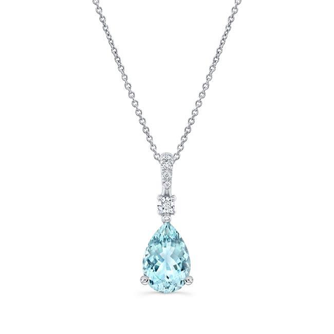 Aquamarine and Diamond Necklace AQ-8172N