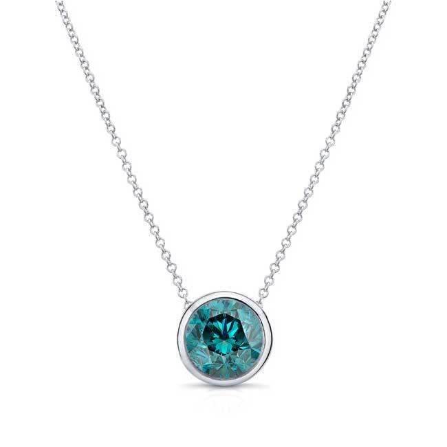 Blue Diamond White Gold Necklace BD-8150N