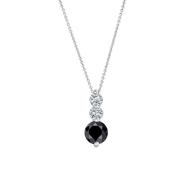 Black & White Diamond Necklace BK-5593N