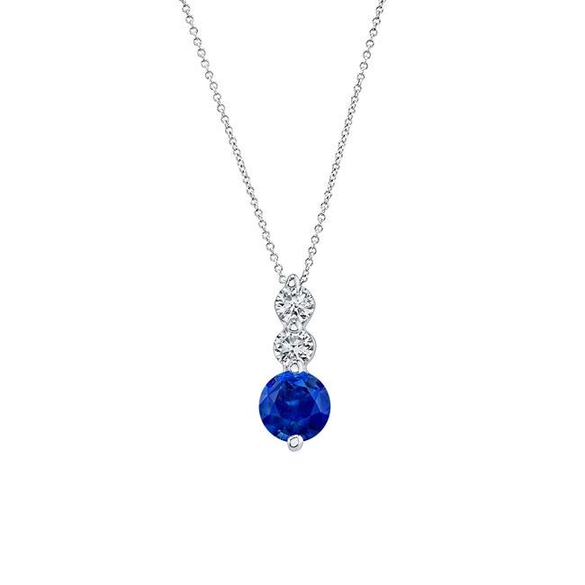 Blue Sapphire & Diamond Necklace BS-5593N