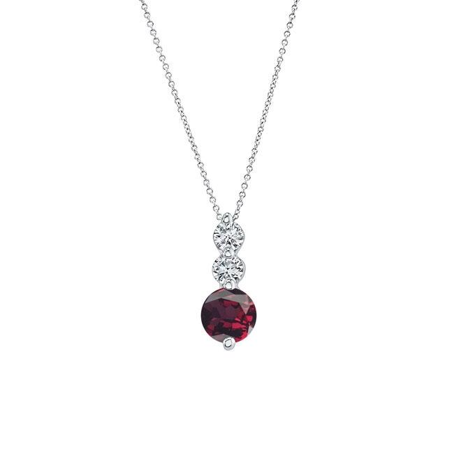 Garnet & Diamond Necklace GR-5593N