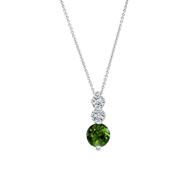 Green Tourmaline & Diamond Necklace GT-5593N