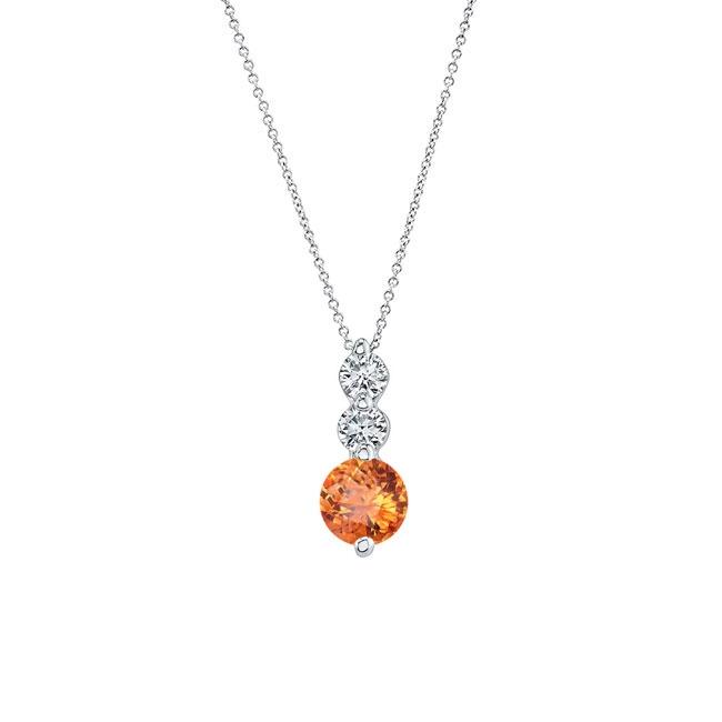 Citrine & Diamond Necklace MC-5593N
