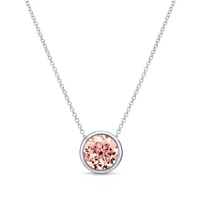 Morganite White Gold Necklace MO-8150N
