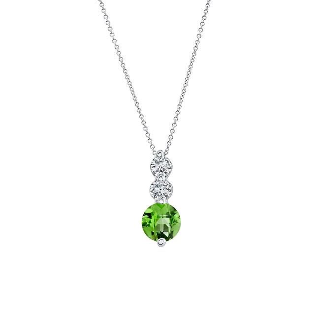 Peridot & Diamond Necklace PD-5593N