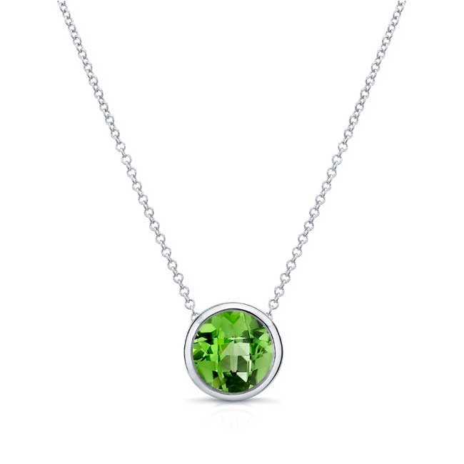Peridot White Gold Necklace PD-8150N