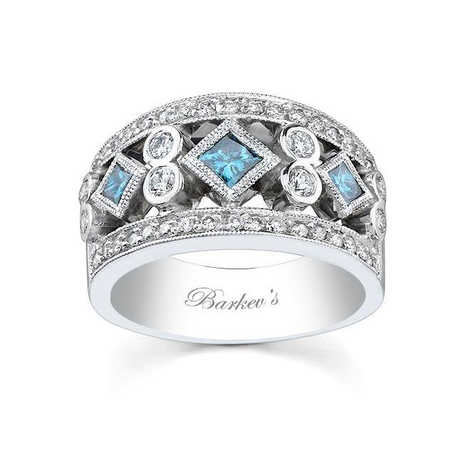 White and Blue Diamond Band 6779LBD