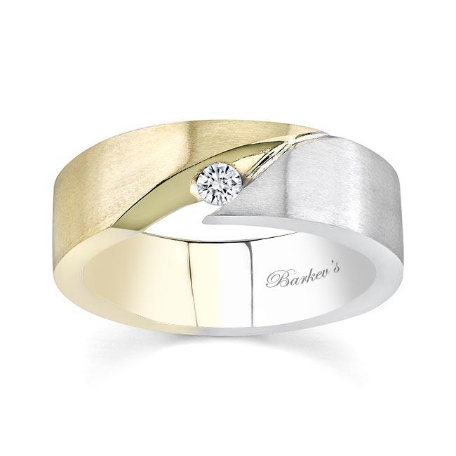 Two Tone Diamond Wedding Band 6842G