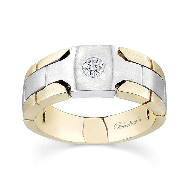 Two Tone Diamond Wedding Band 6923G Image 1