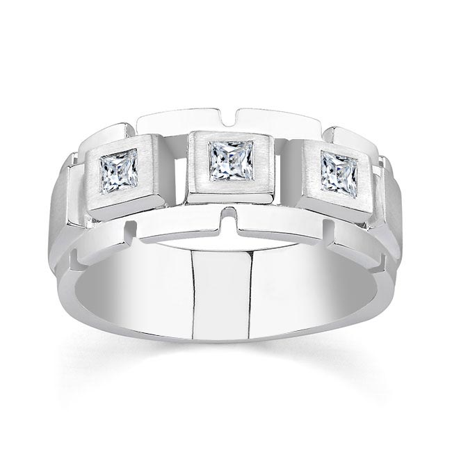 Princess Cut Diamond Wedding Band 6943G