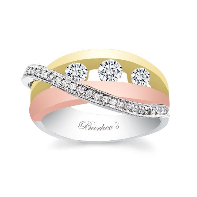 Tri Color Diamond Band 6986L