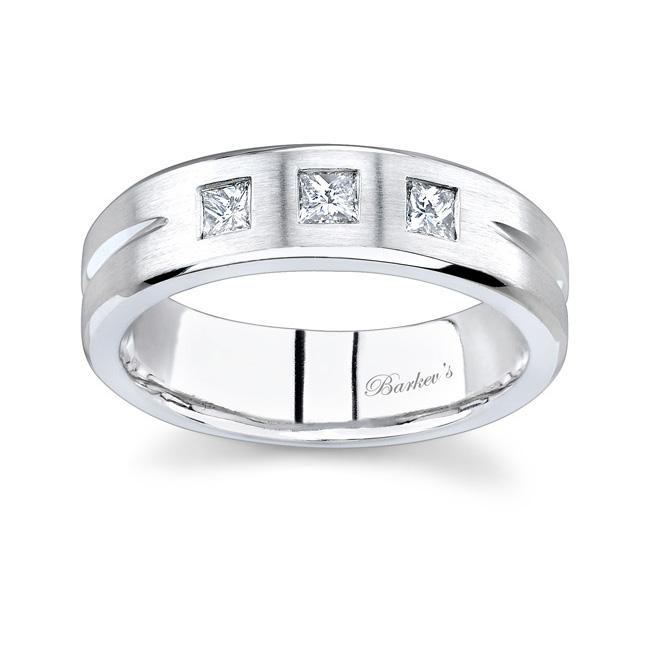 Princess Cut Diamond Wedding Band 7068G Image 1