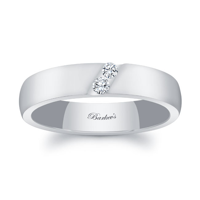 Diamond Wedding Band 8106G_5MM
