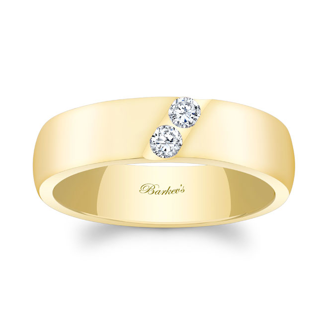 Diamond Wedding Band 8106G_6MM