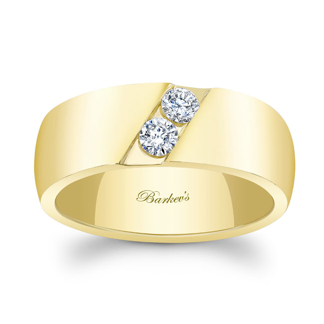 Diamond Wedding Band 8106G_8MM