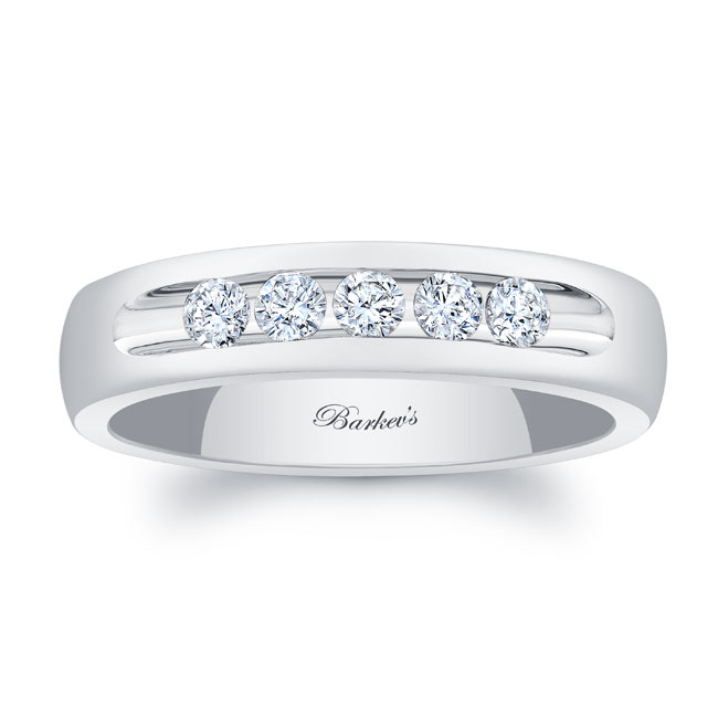 Diamond Wedding Band 8111G_5MM