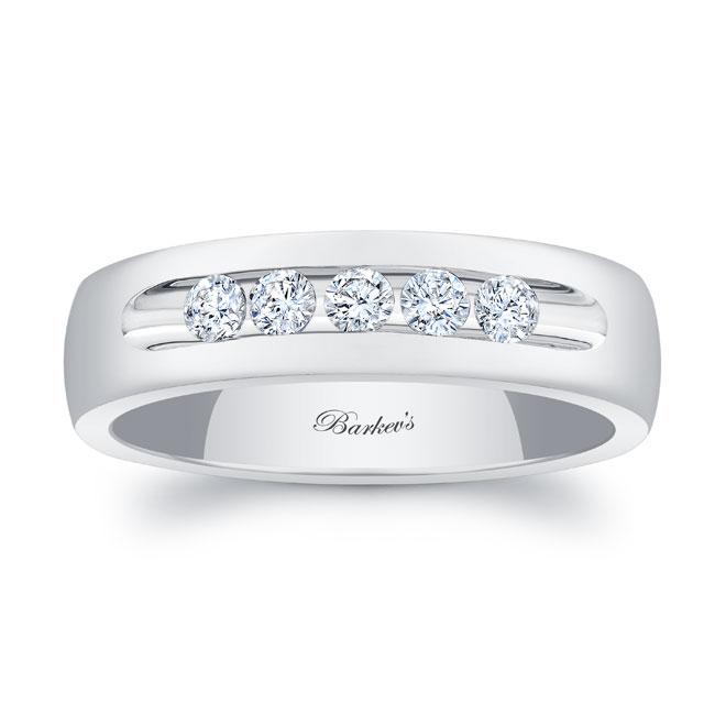 Diamond Wedding Band 8111G_6MM