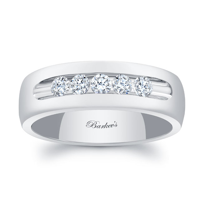 Diamond Wedding Band 8111G_7MM
