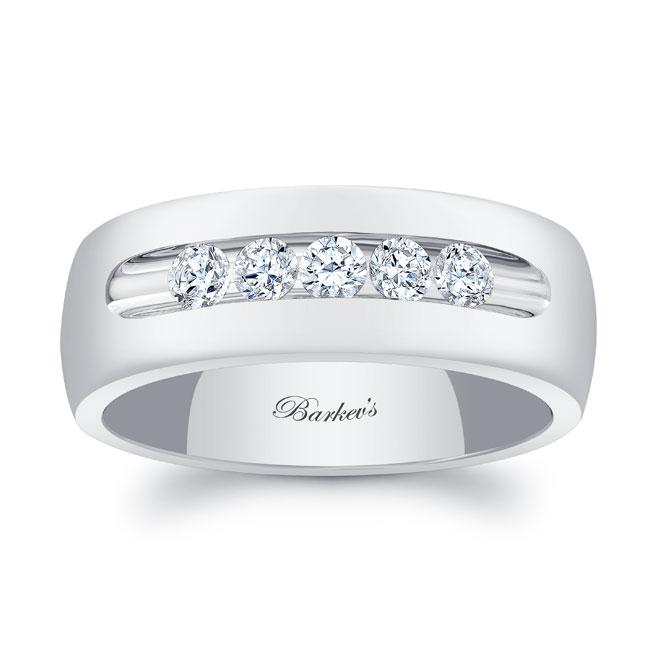 Diamond Wedding Band 8111G_8MM