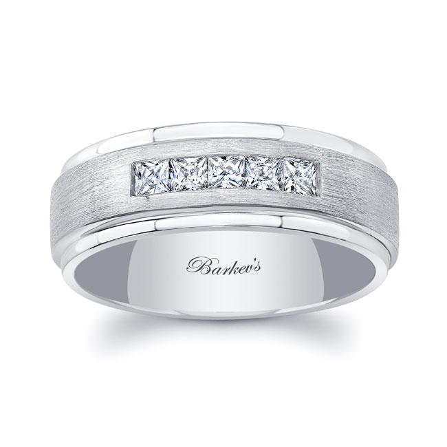 Princess Cut Diamond Wedding Band 8120G