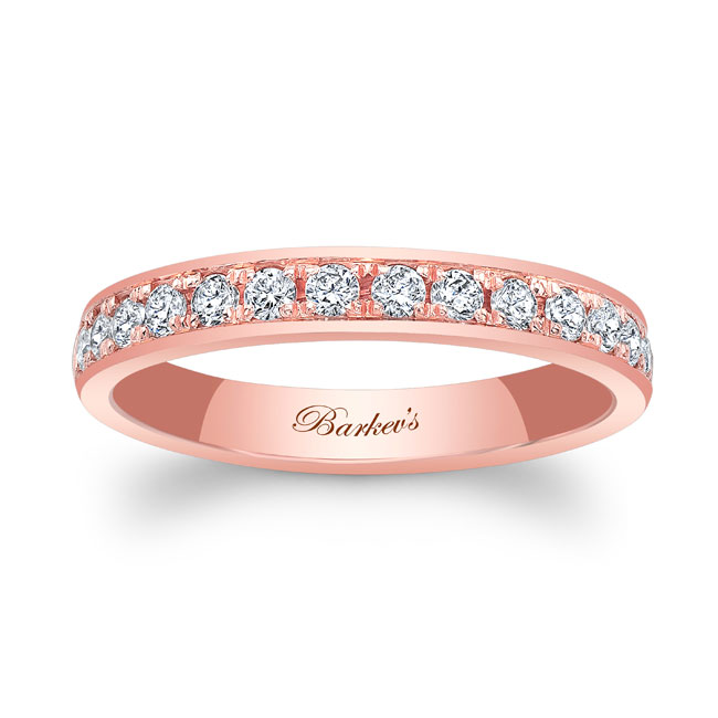 Domed Diamond Wedding Band 8122W_3MM