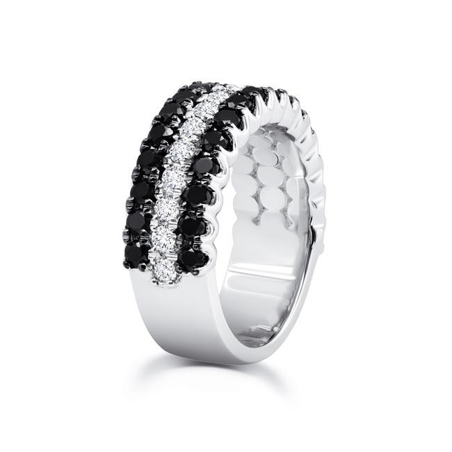 Black Diamond Wedding Band 8155WBK Image 2