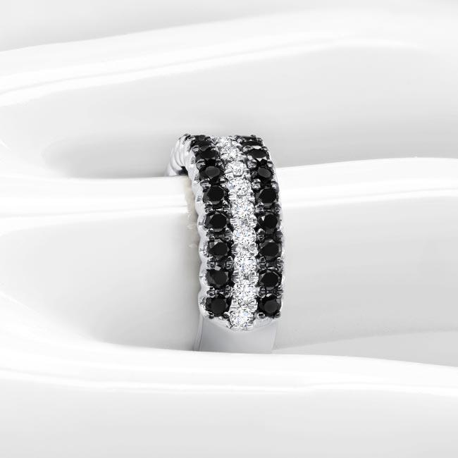 Black Diamond Wedding Band 8155WBK Image 3
