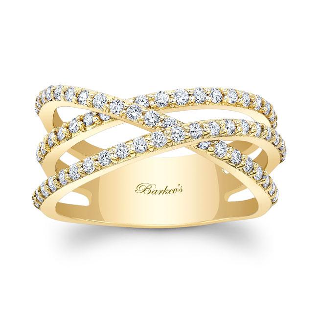 White Gold Criss Cross Wedding Band 8186W