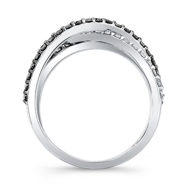 Black Diamond Criss Cross Wedding Band 8186WBK Image 2