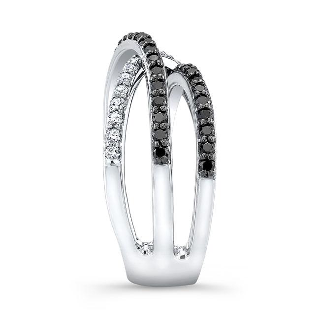 Black Diamond Criss Cross Wedding Band 8186WBK Image 3