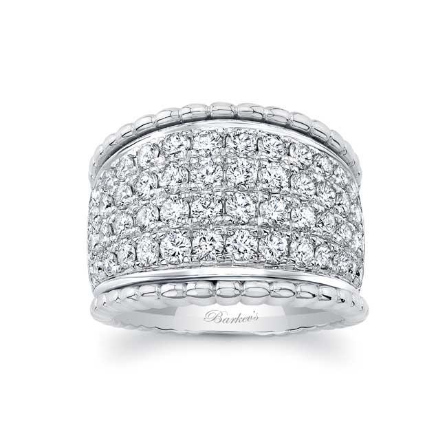 Four Row Diamond Wedding Band 8203W