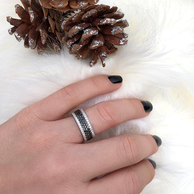 Black Diamond Wedding Band 8215WBK Image 2