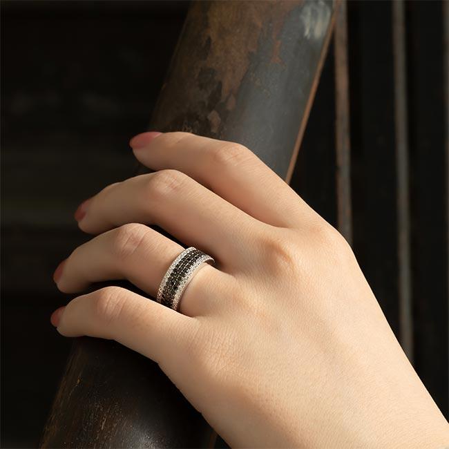 Black Diamond Wedding Band 8215WBK Image 3