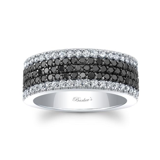 Black Diamond Wedding Band 8215WBK Image 1